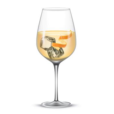 aymar ice in een glas wijnhuis Oinos