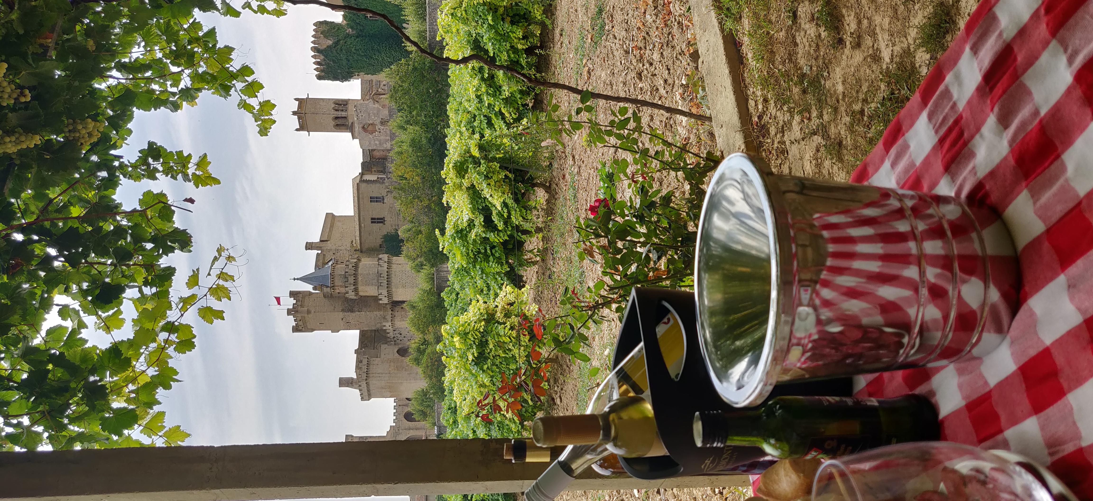 etentje in de tuin bij Piedemonte