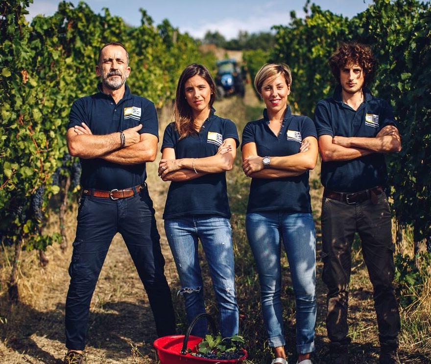 overzicht van het team bij Santi Giacomo e Filippo (Marche)